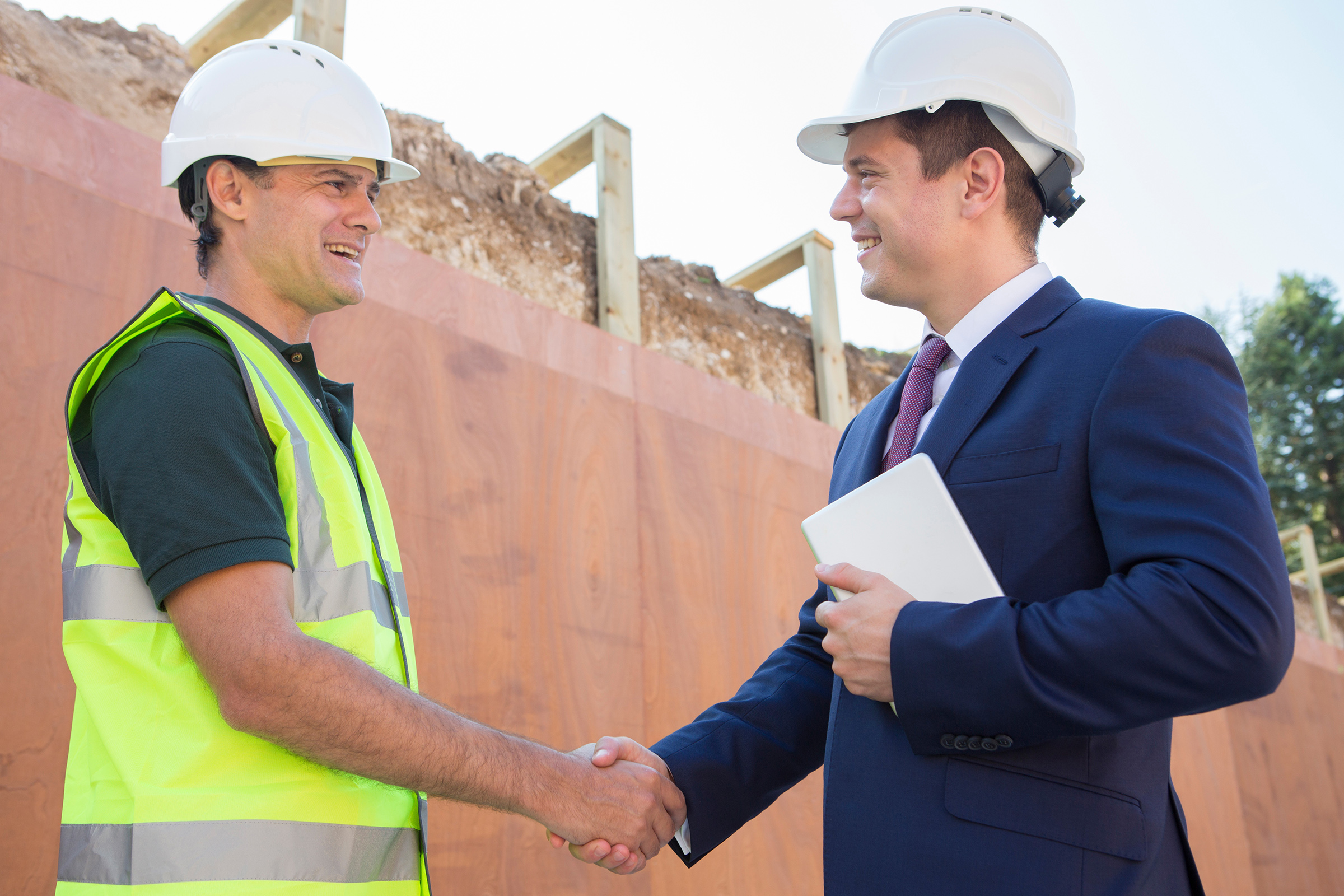 Contractor Business Man Shaking Hands